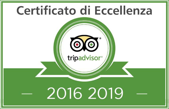 certificato eccellenza Tripadvisor